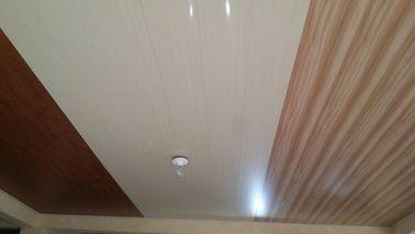 Cina 20cm x 6mm Flat PVC Ceiling Panels Tidak ada Aspirasi Desain Kayu Distributor
