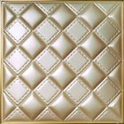 Hallway Background 3D Leather Wall Panels Wood Tile Imitation 500x500x3 mm